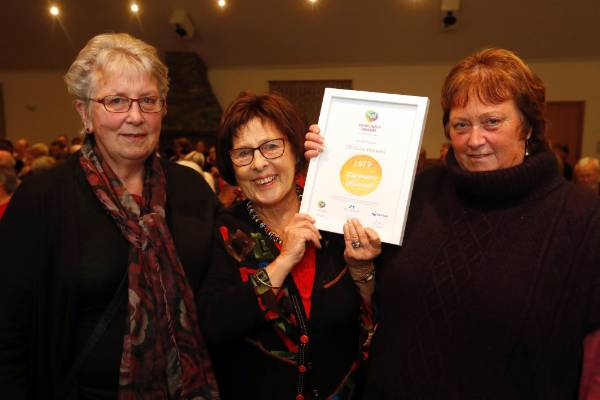 Barbara McKay, left, Carolyn McLellan and Judy Nalder  of Golden Bay Rural Women at the Trustpower Nelson Tasman ...