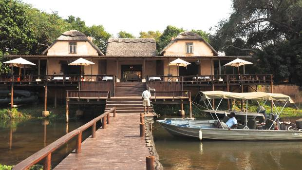 The Lodge has a fleet of boats for fishing expeditions