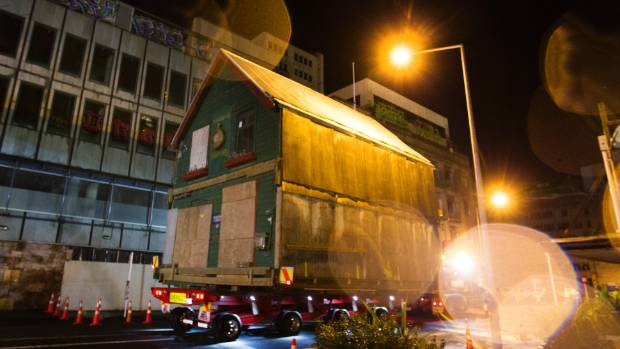 Shand's was carefully moved at night to its new home next to the old Trinity Congregational Church.