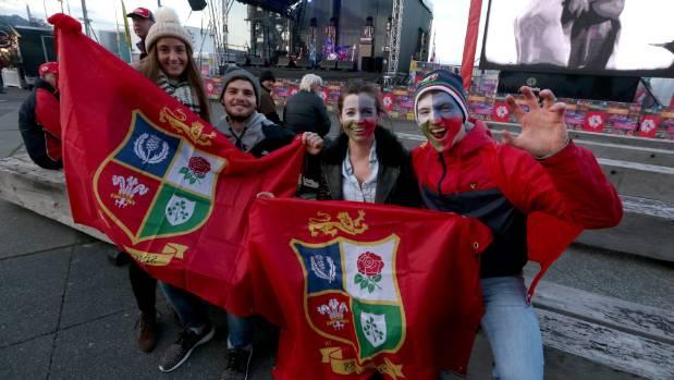 Lions fans roar into Wellington for Hurricanes clash