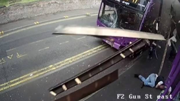 Hit by bus, then goes to bar