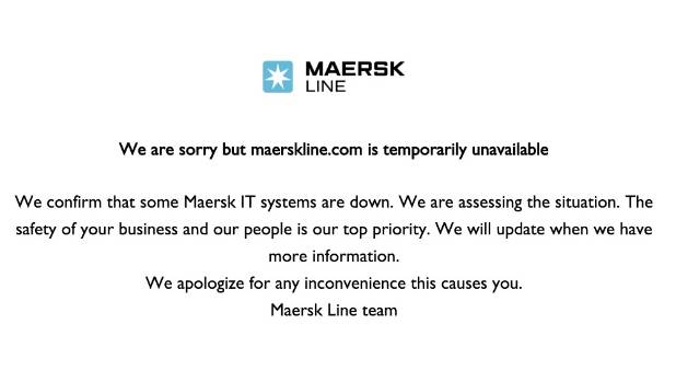 Shipping giant Maersk is one of the big names that has fallen victim to a huge ransomware attack.