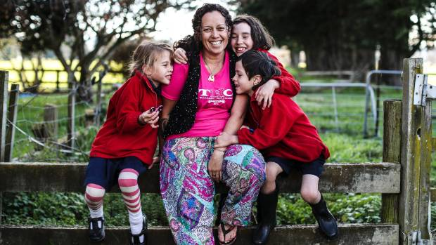 Sonia Howes worries she could lose her children, L-R: Jade, 8, Layla, 9, and Seaton, 6, over her cannabis use.