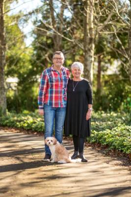 Jenny and Russell Brooking are keen gardeners who spend as much time as they can in their one hectare New Plymouth ...