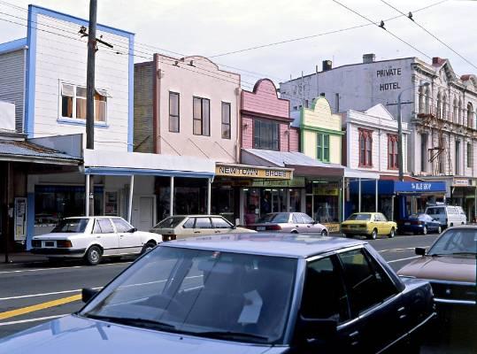 Newtown shops, 1991.