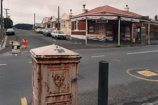 Postbox and dairy on Adelaide Road, Newtown.