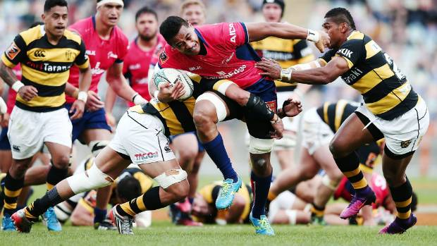 Shannon Frizell, in action here against Taranaki last season, made an outstanding contribution to Tasman's win.