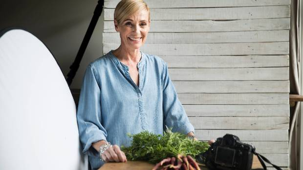 Tuck has a food photography studio in her home garage.