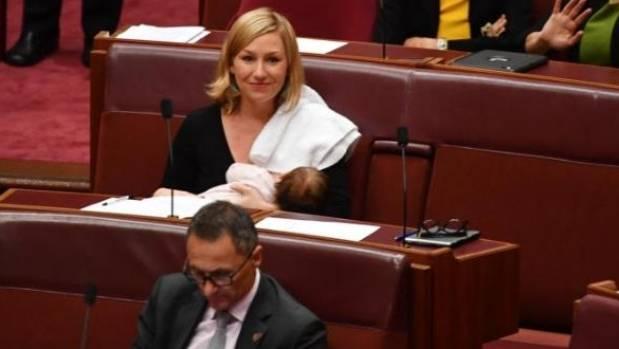 Larissa Waters has been applauded for normalising breastfeeding.
