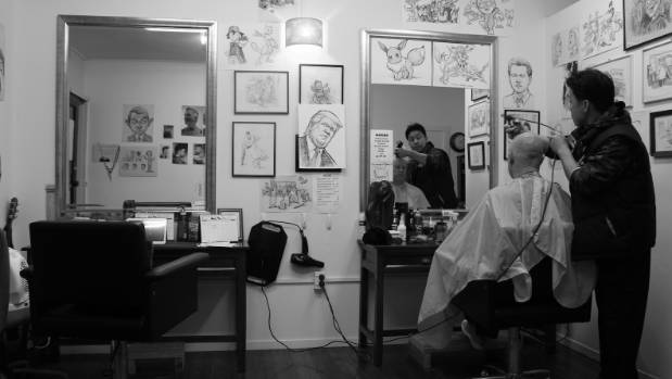 """""""Barber Artist"""" made the top 30 for the Auckland Photo Day competition."""