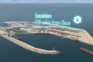 The plan envisages an international consortium building the island offshore from Gaza.