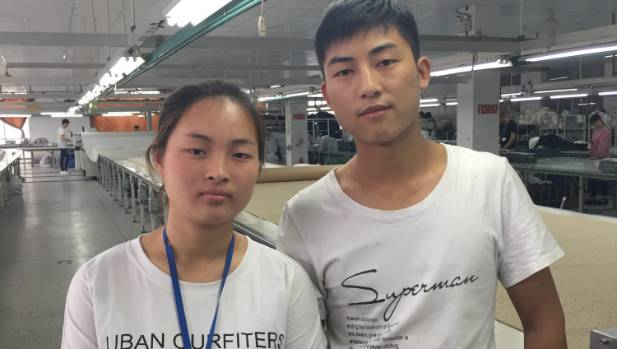 Garment workers Zhang Guiyan and Zhang Baobao see their baby twice a year.