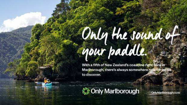 The Only Marlborough campaign enticing people to use the Marlborough Sounds.