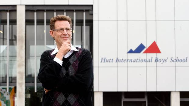 Former Hutt City Councillor Max Shierlaw, outside Hutt International Boys School, which asks pupils for $7200 annually. ...