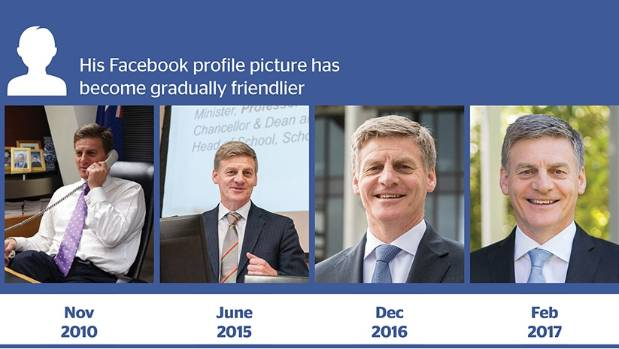 Bill English's Facebook page has transformed since he became Prime Minister in December.