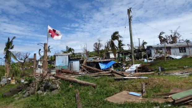 The damage left by cyclone Winston, which caused widespread carnage on the Island nation.