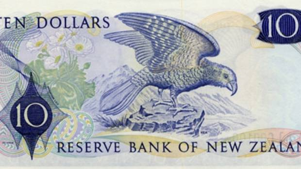 The ten dollar 1967 banknote featured a kea.