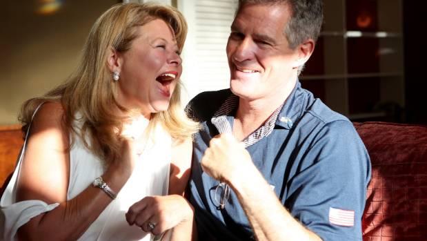 Scott Brown and Gail Huff