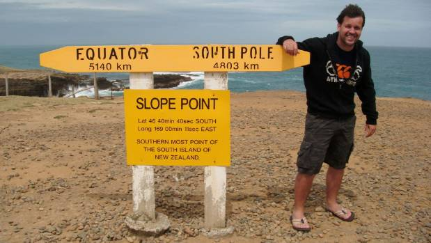 Dunedin-based author Finn Bell at Slope Point, in the Catlins. Bell has had two novels listed for a Ngaio Marsh award, ...