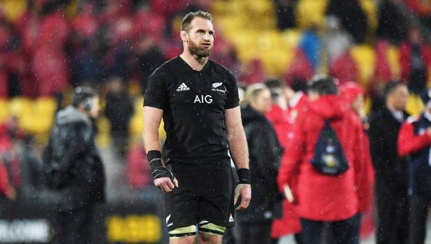 All Blacks captain Kieran Read shows his disappointment as he leaves the field after the Lions win the second test.