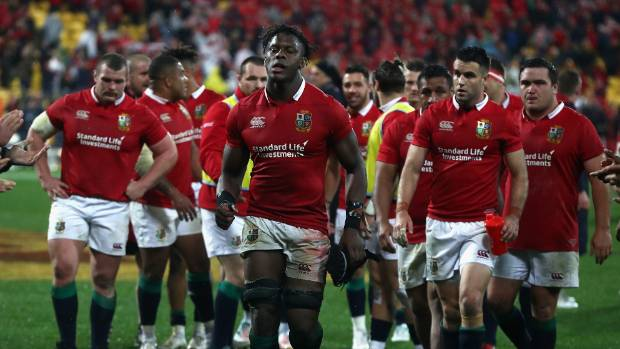The Lions leave the field after beating the All Blacks in Wellington.