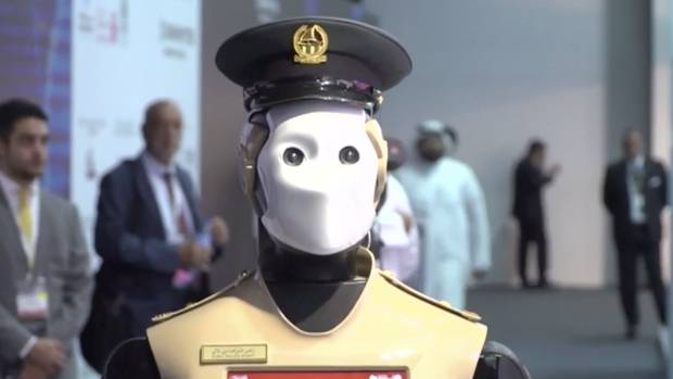 The Dubai police force said the robots aren't intended to replace human officers.