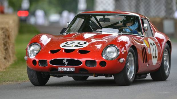 The Ferrari 250 GTO owned by Pink Floyd drummer and car enthusiast Nick Mason.