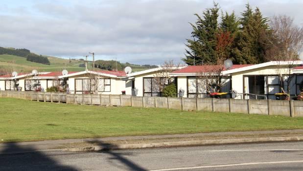 The block of flats on Main St, Mataura, where Warren MacKenzie was stabbed.