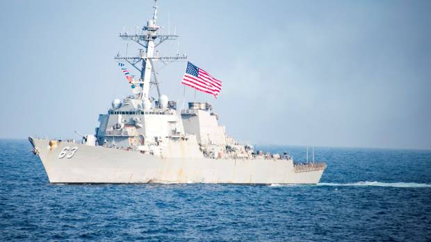 Pentagon Sails Destroyer Near Disputed Island in South China Sea, Officials Say