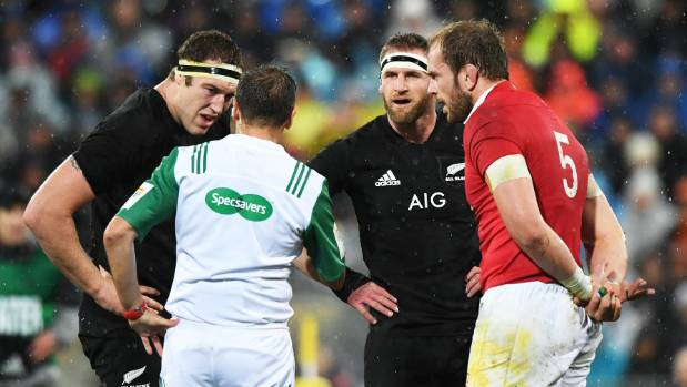 The All Blacks got frustrated as they struggled to get on top.