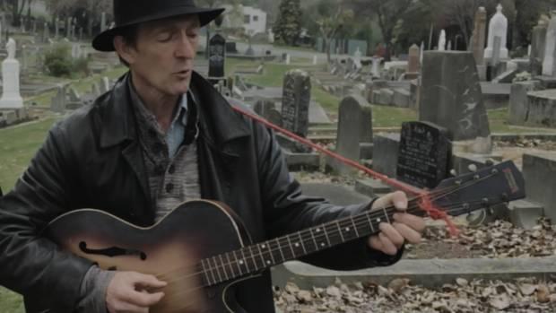 Dead centre of town: Bill Direen in Oamaru Cemetery.