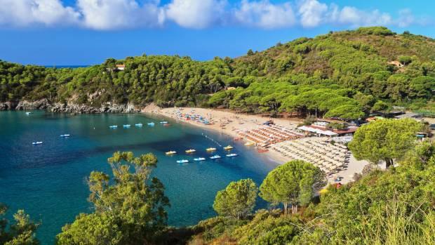 Fetovaia beach, Elba island, Italy.