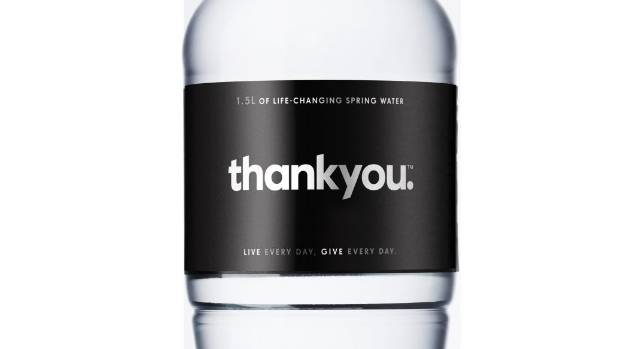 Thank You water will be stocked here next year, as the social enterprise plans to spread to New Zealand.