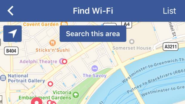 Find Wi-fi appears to be dominated by cafes, gyms and small retailers who are keen to use Facebook to get more people in ...