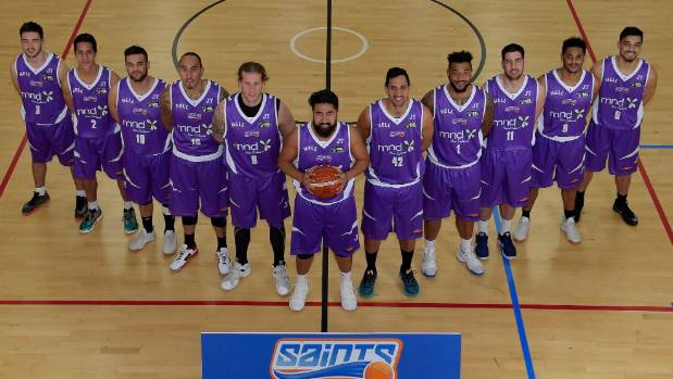 The Wellington Saints in their special purple uniform to raise funds for the Motor Neurone Disease Association of New ...
