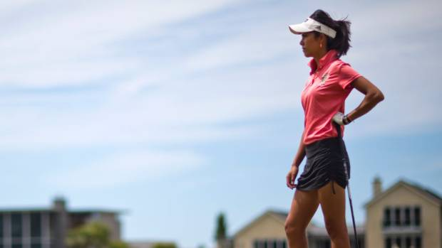 kiwi pro tania tare competes at the new zealand womens open at christchurchs clearwater course in