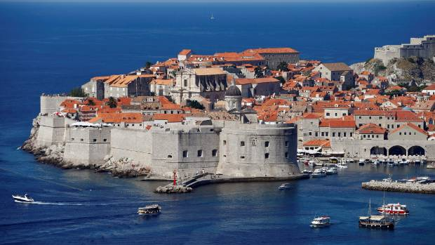 A general view of Croatia's UNESCO protected medieval town of Dubrovnik.