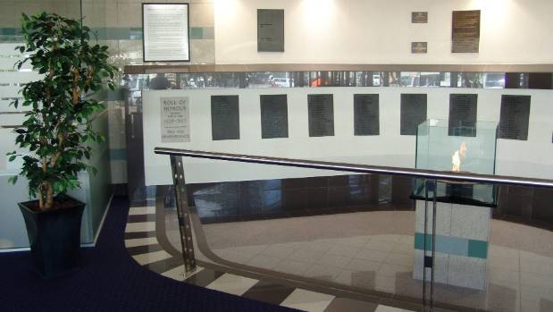 The eternal flame and roll of honour were previously located at Napier's former War Memorial Conference Centre, which ...