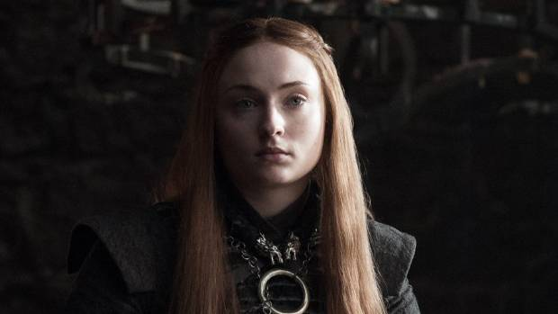 Sophie Turner as Game Of Thrones' Sansa Stark, a role she has played since she was 13.