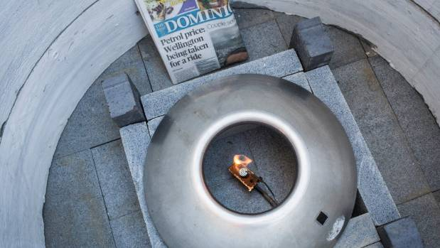 Napier City Council offered proof that the eternal flame was still burning on Wednesday morning - as evidenced by a copy ...