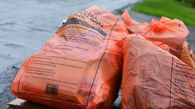 The council orange rubbish bags are currently being used in North Shore, Waitakere, Papakura and Franklin. Council plans ...