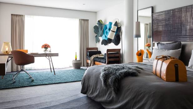 The Auckland Hilton hotel room designed by Halford inspired by Hotel du Marc
