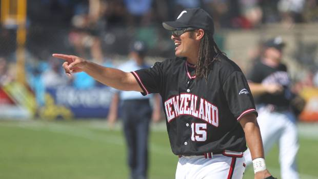 Brad Rona batted in a run in his 100th test appearance for the New Zealand Black Sox softball team.