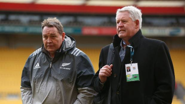 Hansen and NZ Rugby boss Steve Tew.