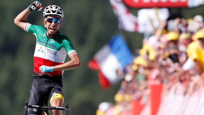 Fabio Aru wins stage five as Chris Froome takes yellow at Tour de ... 08aba90f5