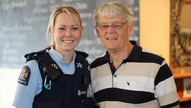 Constable Sasha de Laborde catches up with her Grandpa, Bob de Larborde.
