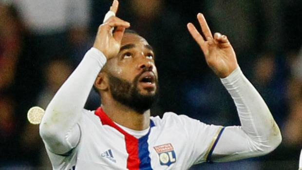 Alexandre Lacazette in Lyon colours will soon be playing for Arsenal.