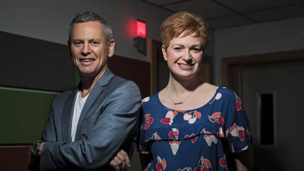 Radio New Zealand Morning Report presenters Susie Ferguson and Guyon Espiner.