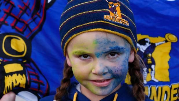 Highlanders fan Hayley Tairua, 8, of Timaru.