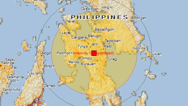 There are estimated to be 3 million people within 100km of the quake's epicentre.
